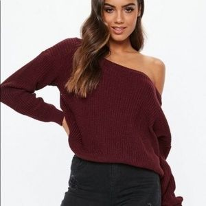 Missguided Burgundy Knit Sweater D64 NEW W/O TAGS